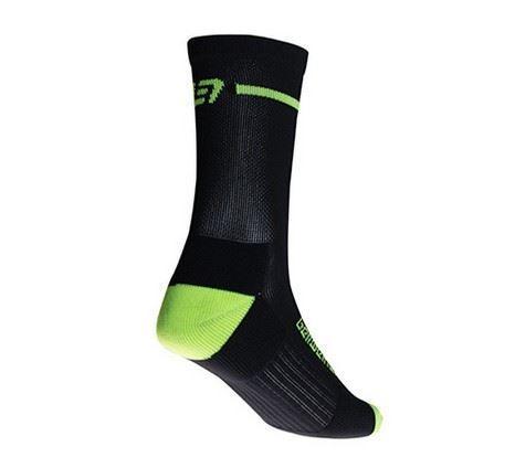 Picture of BELLWETHER Optime Sock Black/Hi-Vis