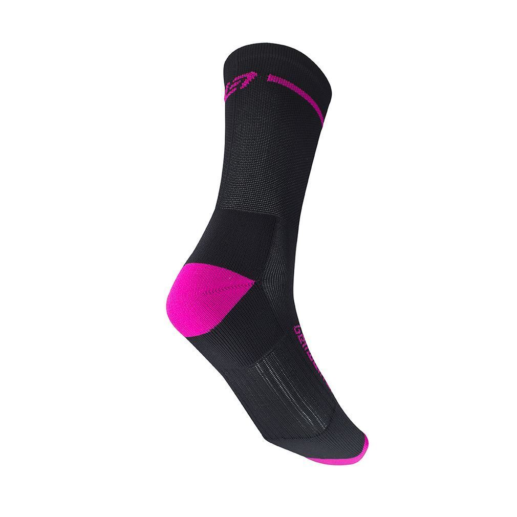 Picture of BELLWETHER OPTIME SOCK BLACK/FUCHSIA