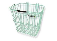 Picture of BASIL MEMORIES REAR BOTTLE BASKET PASTEL GREEN